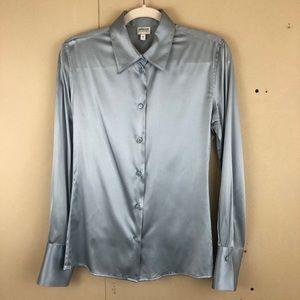 Armani Collezioni Blue Silk Shirt